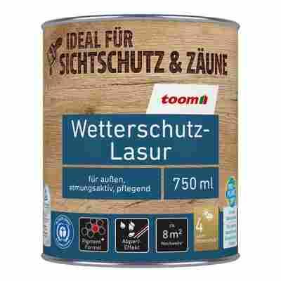 Wetterschutz-Lasur teakfarben 0,75 l