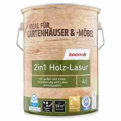 2in1 Holz-Lasur kastanienbraun 4 l
