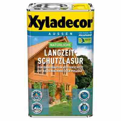 Langzeit-Holzschutzlasur teakfarben 0,75 l