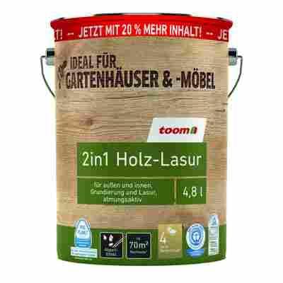 2in1 Holzlasur teakfarben 4,8 l