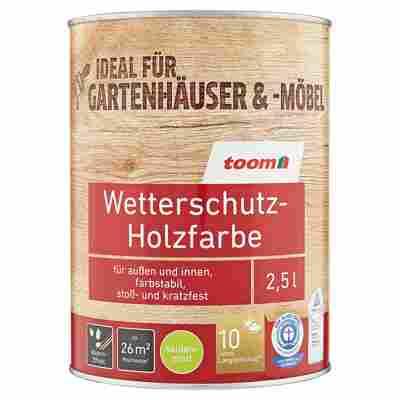 Wetterschutz-Holzfarbe seidenmatt anthrazit 2,5 l