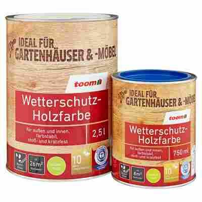 Wetterschutz-Holzfarbe seidenmatt cremeweiß 2,5 l