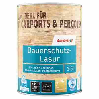 Dauerschutz-Lasur teakfarben 2,5 l