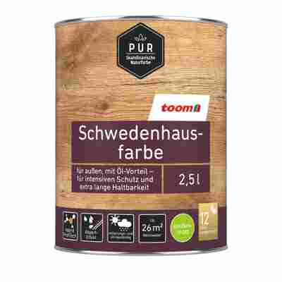 Schwedenhausfarbe 'Pur' anthrazit seidenmatt 750 ml
