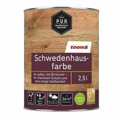 Schwedenhausfarbe 'Pur' schwedenrot seidenmatt 2500 ml