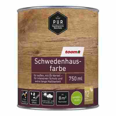 Schwedenhausfarbe 'Pur' silbergrau seidenmatt 750 ml