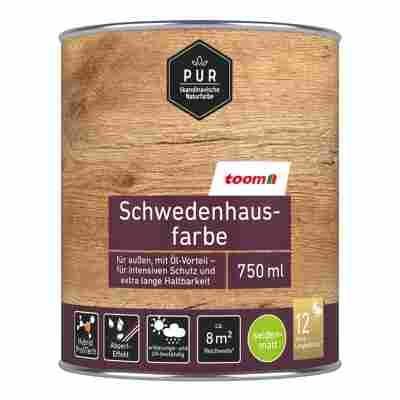 Schwedenhausfarbe 'Pur' schwedenrot seidenmatt 750 ml