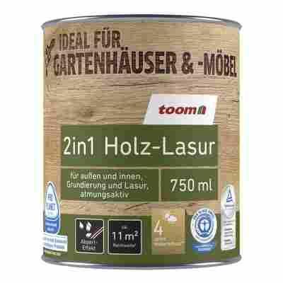 2in1 Holzlasur dunkelgrau 750 ml