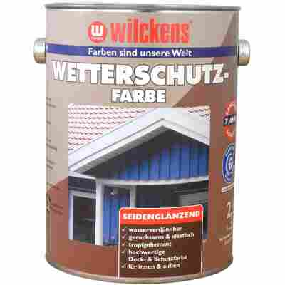 Wetterschutzfarbe 'RAL 6005' moosgrün 2,5 Liter