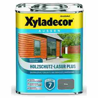 Holzschutz-Lasur 'Plus' grau, 750 ml