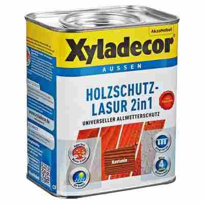 Holzschutzlasur 2in1 kastanienfarben 0,75 l