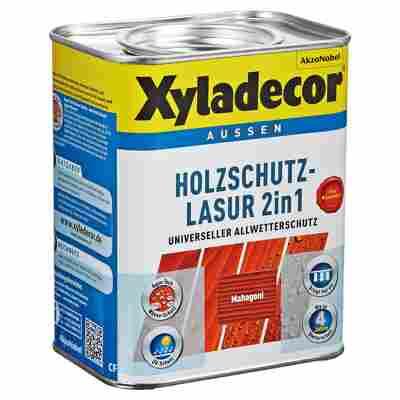 Holzschutzlasur 2in1 mahagonifarben 0,75 l