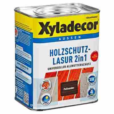 Holzschutzlasur 2in1 palisanderfarben 0,75 l