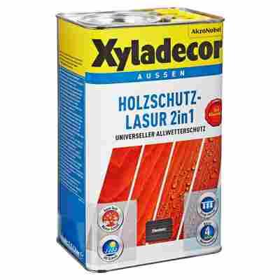 Holzschutzlasur 2in1 ebenholzfarben 2,5 l