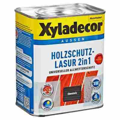 Holzschutzlasur 2in1 ebenholzfarben 0,75 l
