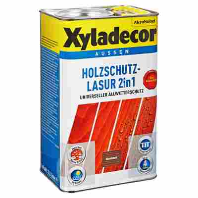 Holzschutzlasur 2in1 nussbaumfarben 2,5 l