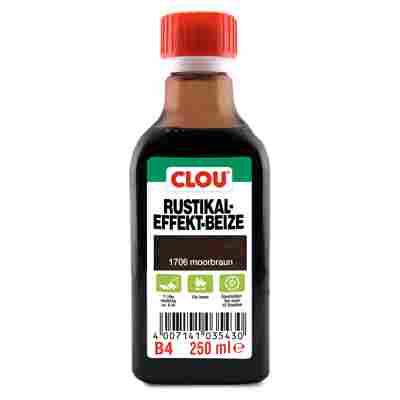 Clou Rustikal-Effekt-Beize moorbraun 250 ml