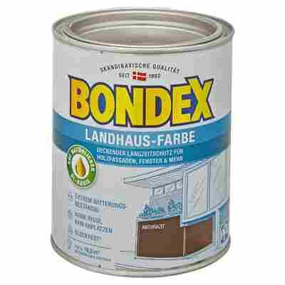 Landhaus-Farbe anthrazit 0,75 l
