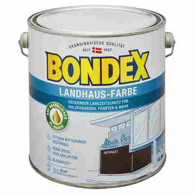 Landhaus-Farbe anthrazit 2,5 l