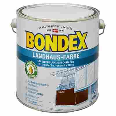 Landhaus-Farbe braun 2,5 l