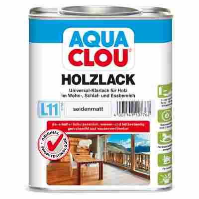 """Holzlack """"Aqua"""" seidenmatt farblos 0,75 l"""