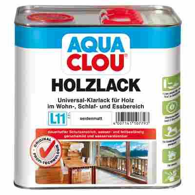 """Holzlack """"Aqua"""" seidenmatt farblos 2,5 l"""