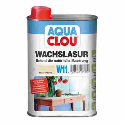 """Wachslasur """"Aqua"""" W11 farblos 0,25 l"""