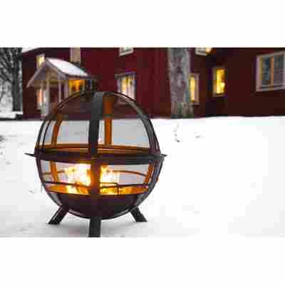 Feuerkorb 'Ball of Fire' schwarz 89,5 x 86 x 79,5 cm