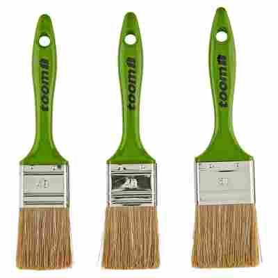 Standard Flachpinsel-Set Kunststoff grün 40 - 50 mm 3 Stück