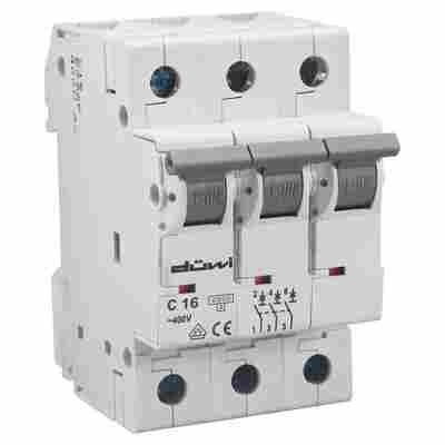 Einbauautomat 3-polig weiß 16 A 250/400 V
