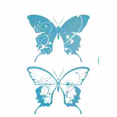 Komar Walltattoo 'Farfalle' 50 x 70 cm