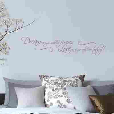Komar Walltattoo 'Dream as you will' 14 x 70 cm