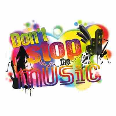 Komar Walltattoo 'Don't Stop the Music' 100 x 70 cm
