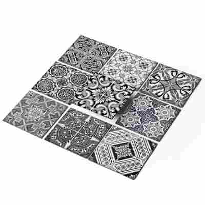 Fliesenaufkleber-Set 'Black n White' 10 x 10 cm