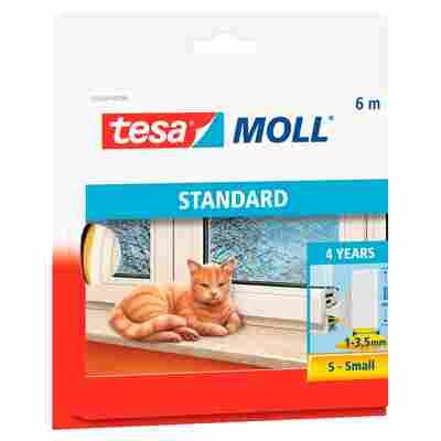 Tesa Schaumstoffdichtung 'tesamoll® Standard' 0,4 x 0,9 x 600 cm weiß