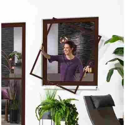 Alu-Bausatz für Fenster 'Master Slim' 130 x 150 cm braun