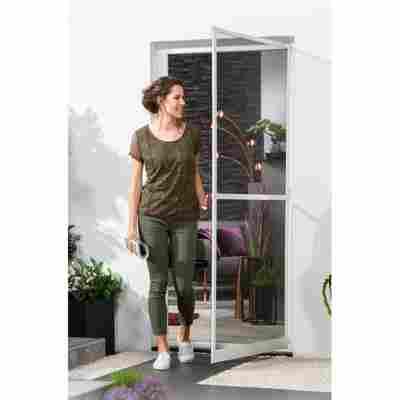 Alu-Bausatz für Türen 'Master Slim Plus' 100 x 210 cm weiß