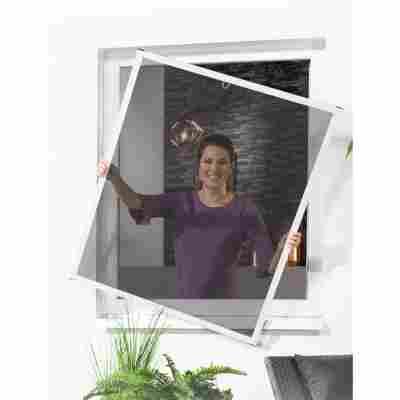 Pollenschutz-Fensterbausatz 'Master Slim' 130 x 150 cm weiß