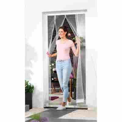 Lamellenvorhang für Türen 100 x 220 cm weiß