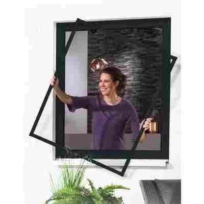 Alu-Bausatz für Fenster 'Master Slim' 130 x 150 cm anthrazit