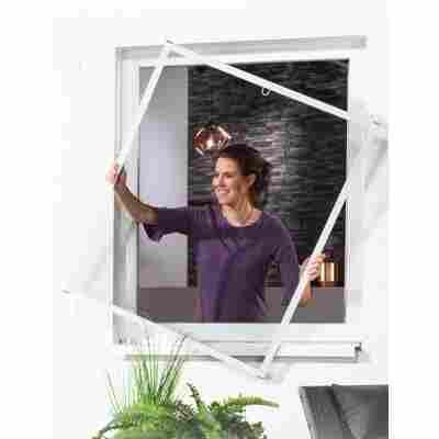 Alu-Bausatz für Fenster 'Master Slim' 100 x 120 cm weiß