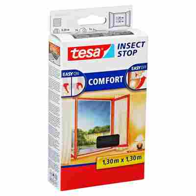 Insect Stop 'Comfort' Fensterfliegengitter anthrazit 130 x 130 cm