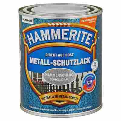 Metallschutzlack 'Direkt auf Rost' dunkelgrau Hammerschlag-Effekt 750 ml