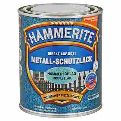 Metallschutzlack 'Direkt auf Rost' metallblau Hammerschlag-Effekt 750 ml