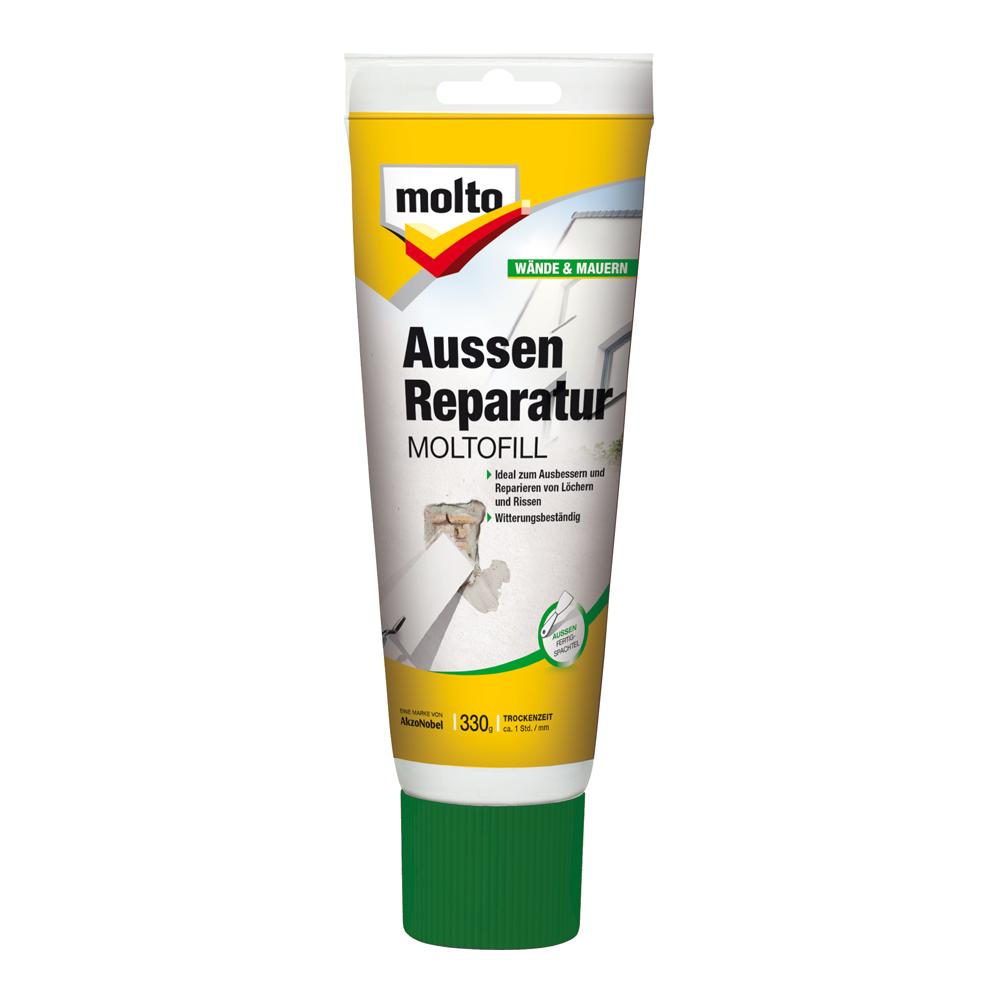 fertigspachtelmasse außenreparatur 'moltofill' weiß 330 g ǀ toom