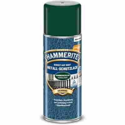 Metallschutzlack-Spray 'Direkt auf Rost' dunkelgrün Hammerschlag-Effekt 400 ml