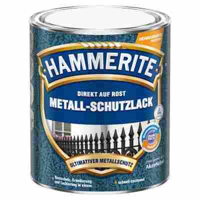 Metallschutzlack 'Direkt auf Rost' silbergrau Hammerschlag-Effekt 750 ml
