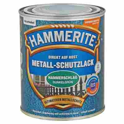 Metallschutzlack 'Direkt auf Rost' dunkelgrün Hammerschlag-Effekt 750 ml