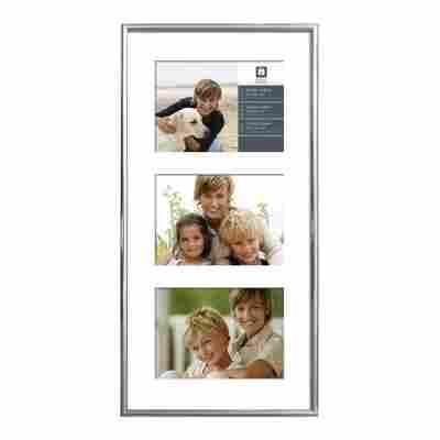 Kunststoffrahmen für 3 Fotos 51 x 25 cm