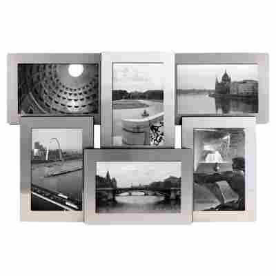 Alu-Collagerahmen für 6 Fotos 10 x 15 cm
